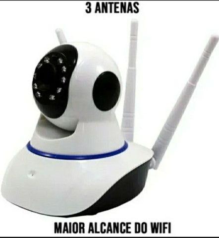 Camera Ip Segurança Residencial Comercial Ultra Hd 3 Antenas Sem Fio - Foto 2