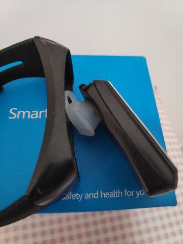 Smartwatch Fone e Relógio monitor cardíaco calorias 2 em 1 - Foto 5