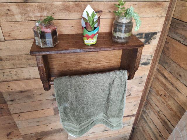 Porta toalha rústica - Foto 2