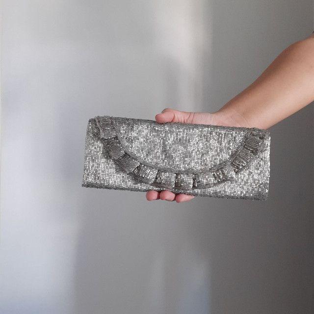 Bolsa clutch bordada - Foto 2