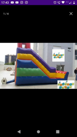 Tobogã inflável escorregador grande - Foto 4
