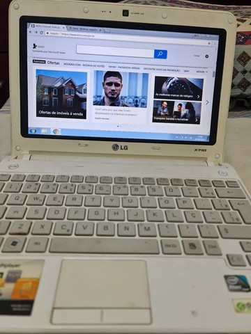 Netbook LG X140 tela de 10 pol. (BATERIA E TECLADO RUIM) - Foto 2