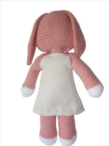 Coelhinha em crochê Amigurumi Y.A.M Artesanato - Foto 5