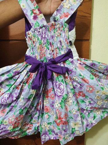 Vestido infantil florido - Foto 3