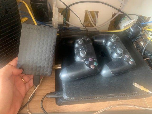PlayStation 4 PS4 com HD 1TB externo + 500Gb - Foto 2