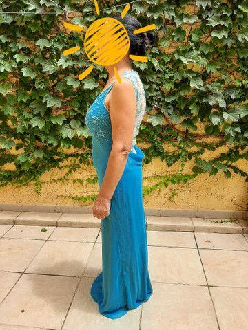 Vestido social azul - Foto 3