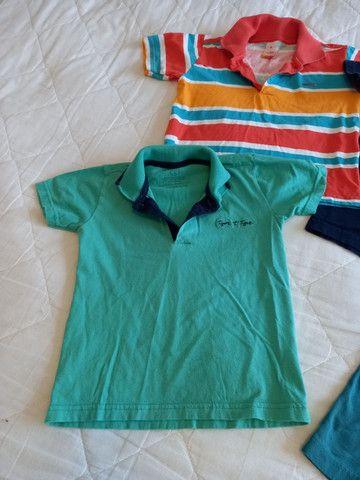 Camisas Polo Menino - Tamanho 4 - Foto 2
