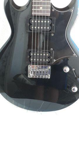 Guitarra ibanez gax 30 regulada com trastes novos - Foto 2