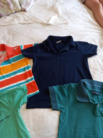 Camisas Polo Menino - Tamanho 4 - Foto 3