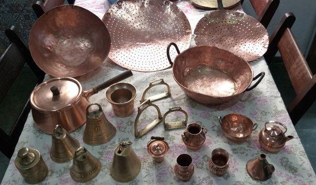 Antiguidades de cobre. Panelas, sinceros. - Foto 2