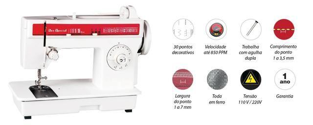 Máquina de costura doméstica, Sun Special ideal para costureiras e alfaiates. Rápida - Foto 5