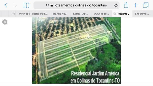 Vendo ágio lote Jardim América Colinas do Tocantins