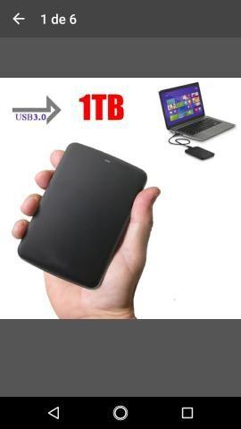 Hd externo Toshiba 1 TB USB 3.0