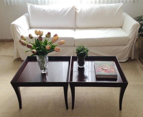 Kit mesa madeira imbuia