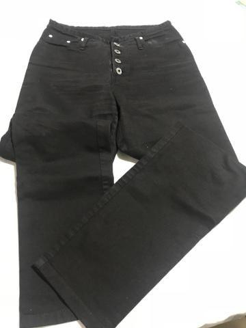 Calça jeans preta Anticorpus, tam. 40