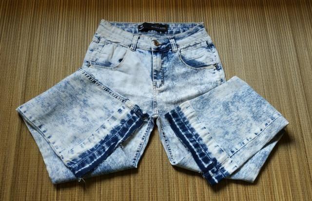 Calça Jeans Manchada Feminina Flare N° 40 Marisa - Roupas e calçados ... 64f632529c3