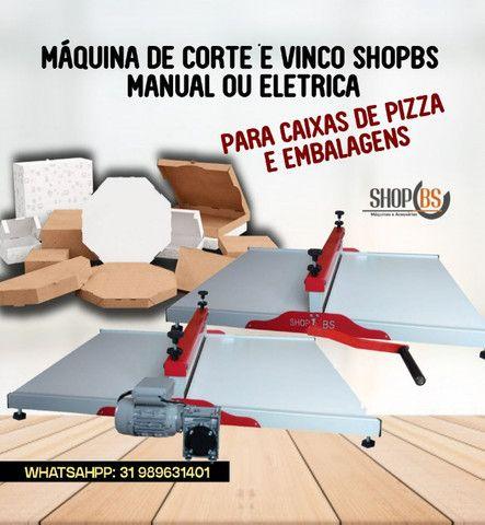 Maquina de corte e vinco Manual e Elétrica para embalagens e caixa de pizza