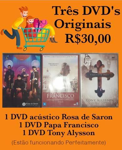 3 DVDs originais (católicos)