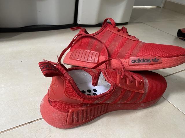 Tênis NMD todo vermelho,tamanho:39 - Foto 4