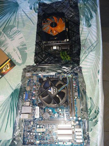 Placa mãe, processador, memória RAM e placa de vídeo  - Foto 3