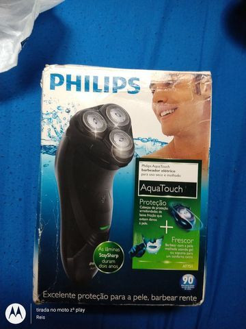 Barbeador aquatouch at751 philips - Usado - Foto 6