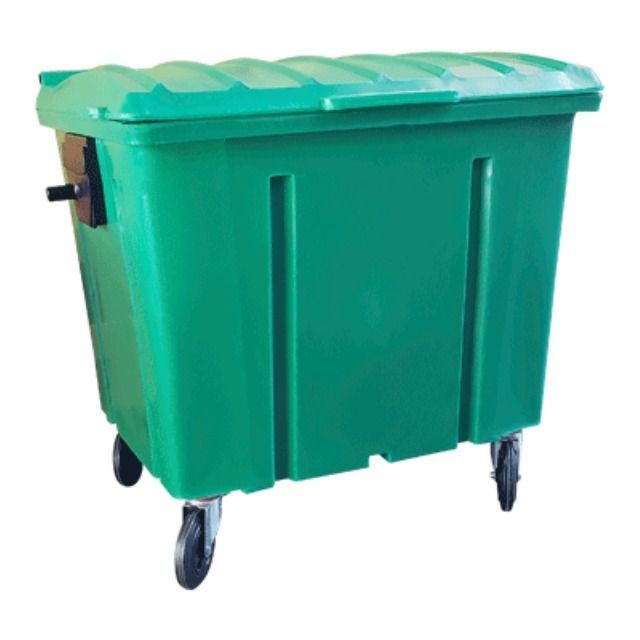 Container de Lixo 1000 Litros com Rodas sem Pedal - Novo