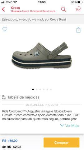 Crocs infantil tamanho 23 Campo Grande Ms - Foto 5