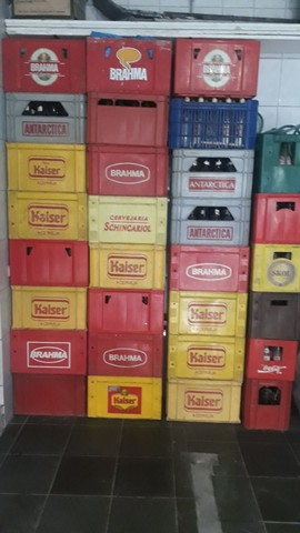 Caixas de garrafas