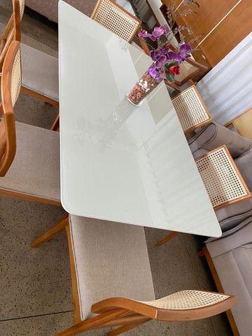 Mesa quadrada com oito cadeiras X aqui na Via Lopes Wpp * - Foto 3