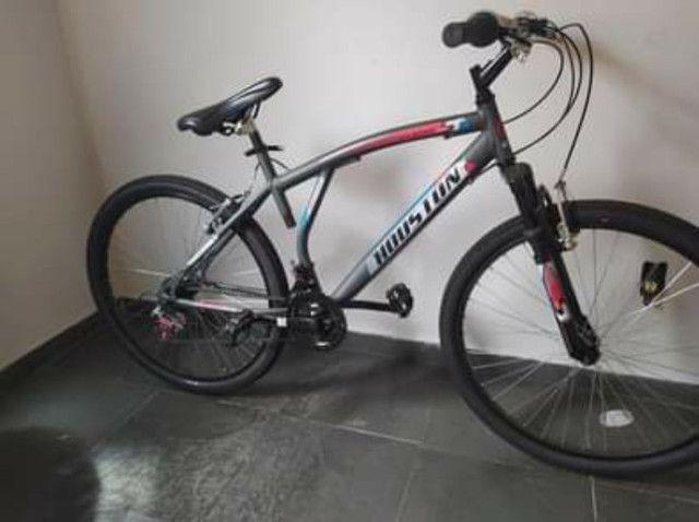 Bicicleta Aro 26 Houston Atlantismad com 21 Marchas ? Cinza