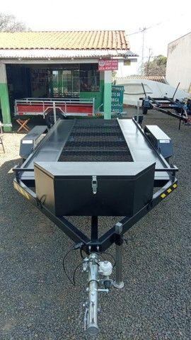 Carreta UTV/Quadriciclo/Veic leves 4,00 x 1,85m - Reboque Zero KM - / Polaris / Fourtrax  - Foto 6