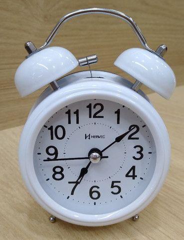 Despertador estilo antigo com campainha - Foto 6