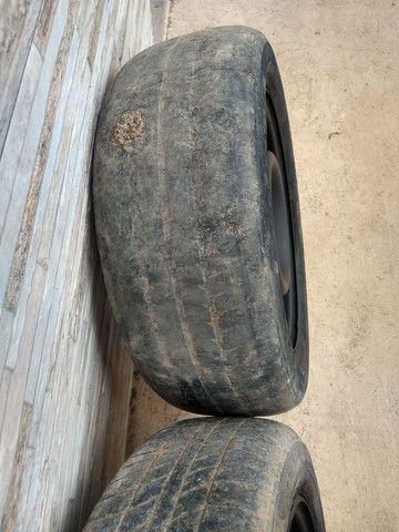 Jogo de rodas 14 de ferro semi novas de furação 4x100 - Foto 8