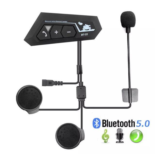 Bluetooth bt22 para capacete de moto, similar ao intercomunicador  - Foto 2