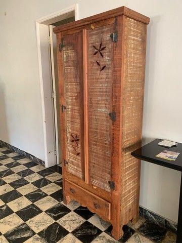 Estante de madeira rústica - Foto 3