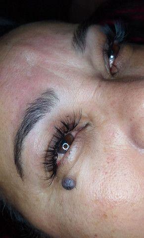 Limpeza de pele, extensão de cílios, design de sobrancelhas - Foto 4