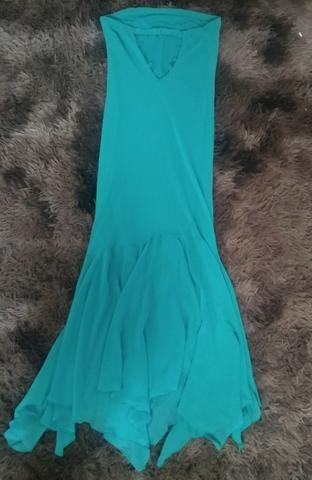Vestido de Festa longo tomara que caia estilo Sereiatam: M