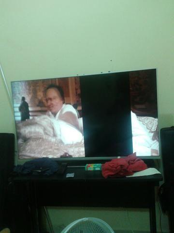 TV 50 com lista na tela t v por TV de 32 noramal
