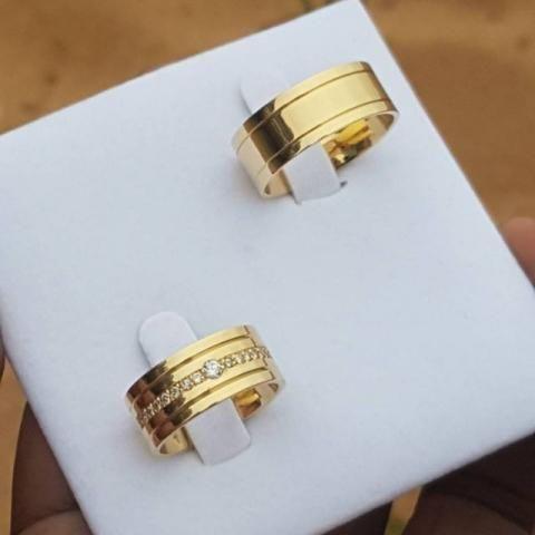 Alianças Personalizadas em Ouro 18k - Premiatta Jóias - R 130 o Grama - Preço de Fábrica