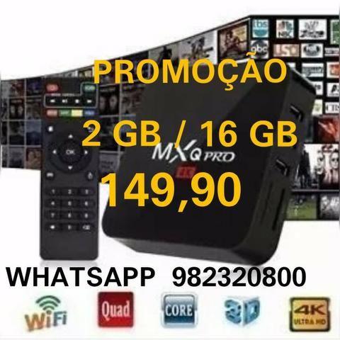 Tv Box Mxq4k pró 2gb / 16gb - Promoção - Entrega Grátis em Maceió