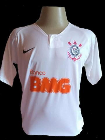 7d5e30abb6d30 Uniforme Camisa Corinthians 2019- patrocínio BMG-Cor Branca - Roupas ...