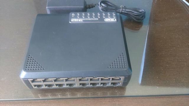 Switch TDA 16 portas 10/100 semi novo, valor de cada switch
