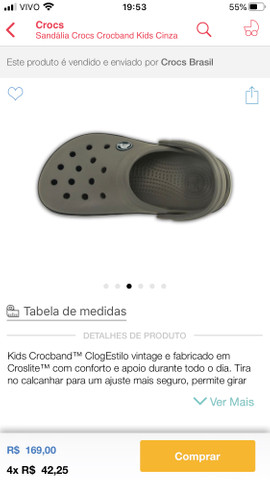 Crocs infantil tamanho 23 Campo Grande Ms - Foto 2