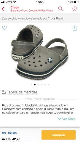 Crocs infantil tamanho 23 Campo Grande Ms - Foto 4