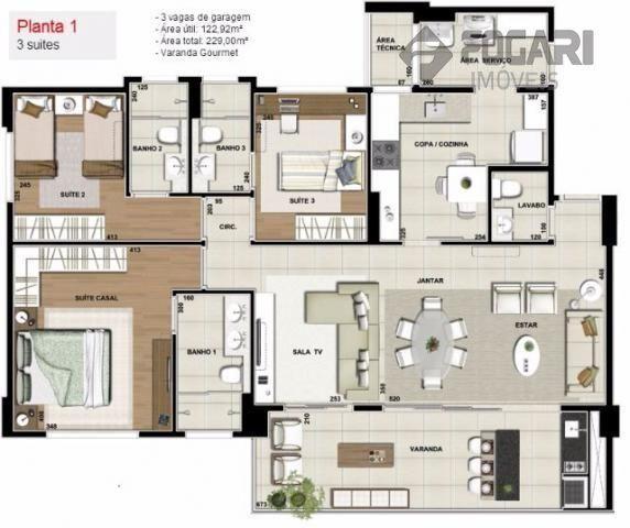 Apartamento com 3 quartos no fontaine blanc - Bairro Fazenda Gleba Palhano em Londrina - Foto 17