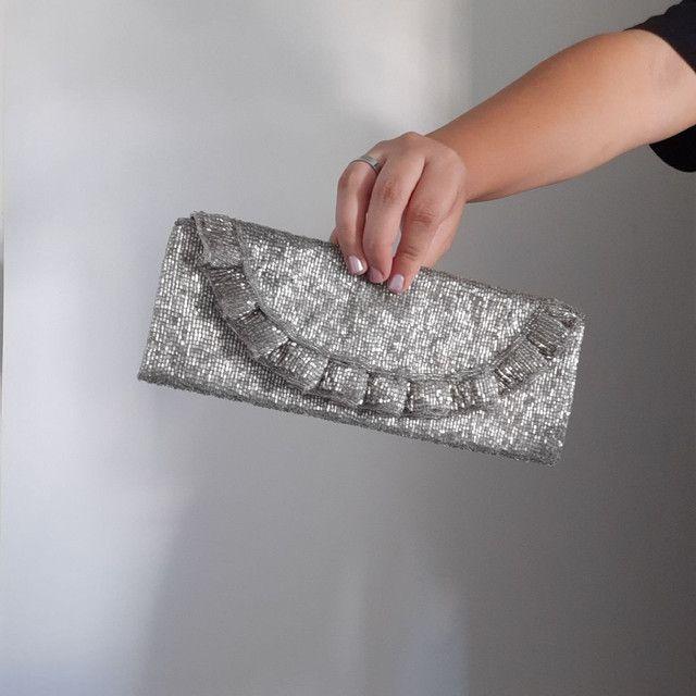 Bolsa clutch bordada - Foto 3