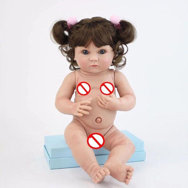 Boneca bebê Reborn Menina toda de Silicone a pronta entrega - Foto 6