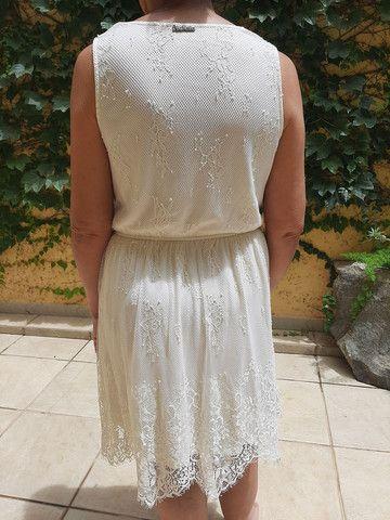Vestido marfim de renda  - Foto 5