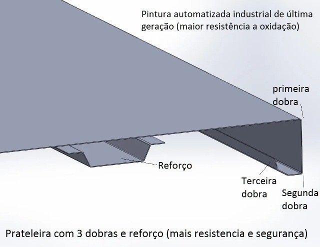 Prateleira de aço (nova c/06 bandejas) - Foto 5