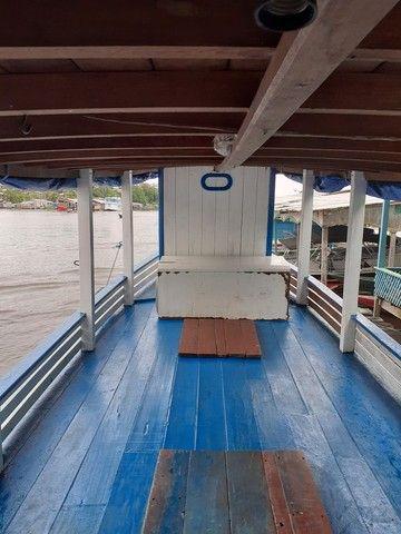 Barco de madeira 12 metros máquina 125 hp Mercedes  - Foto 3